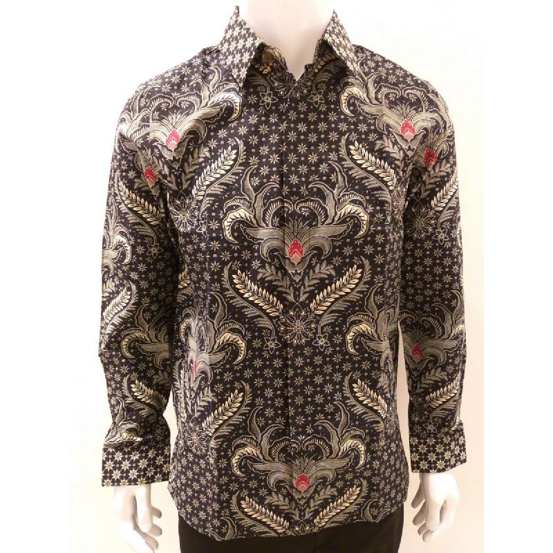 Asana Batik Long Sleeve LSS0L1GRY Grey