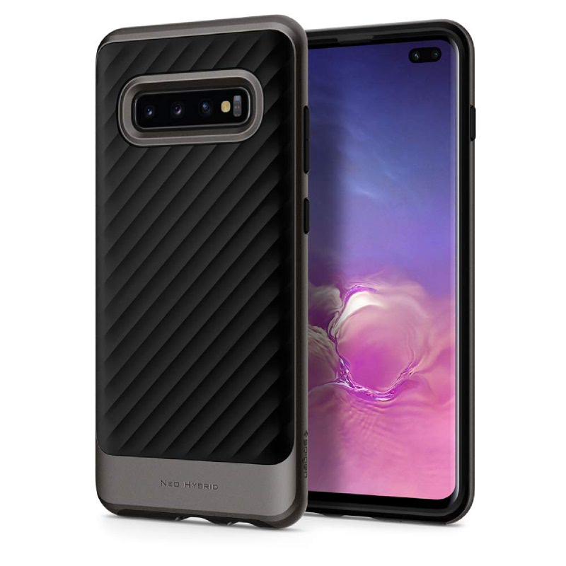 Spigen Galaxy S10+ Case Neo Hybrid - Gunmetal