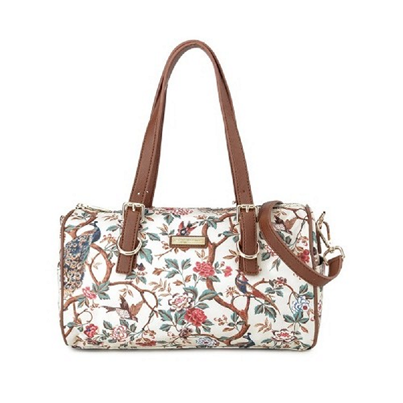 Phillipe Jourdan Bridget Satchel Bag Cream