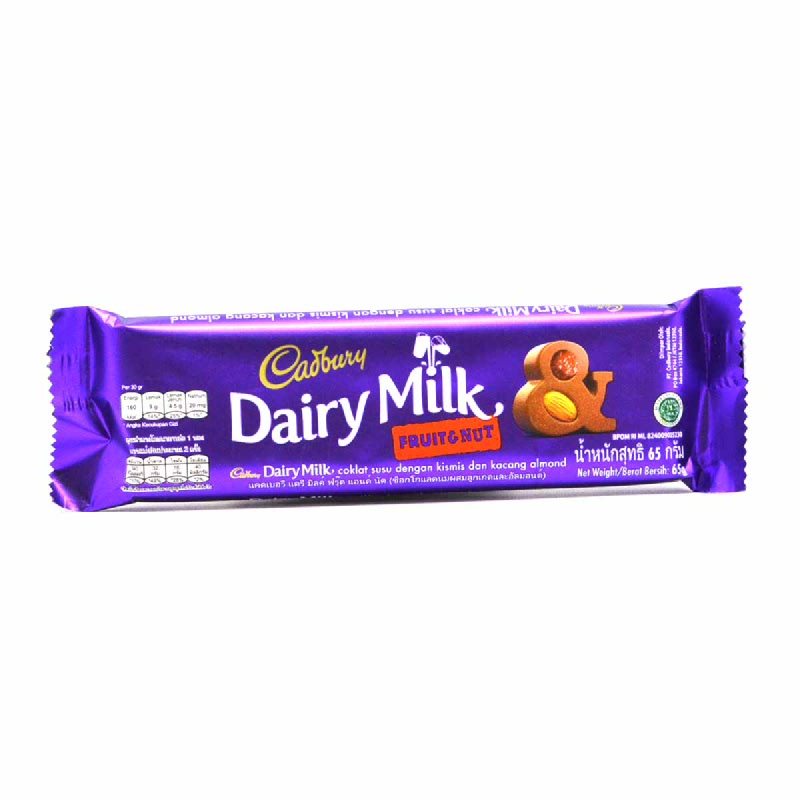 CADBURY FRUIT & NUTS 65G