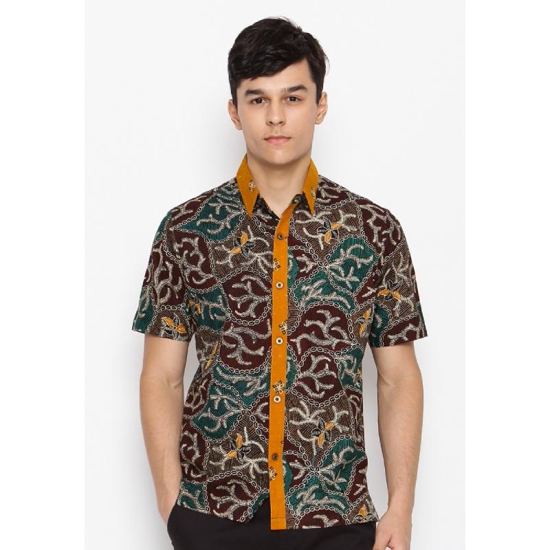 Batik Lengan Pendek HB-J-33321 Brown