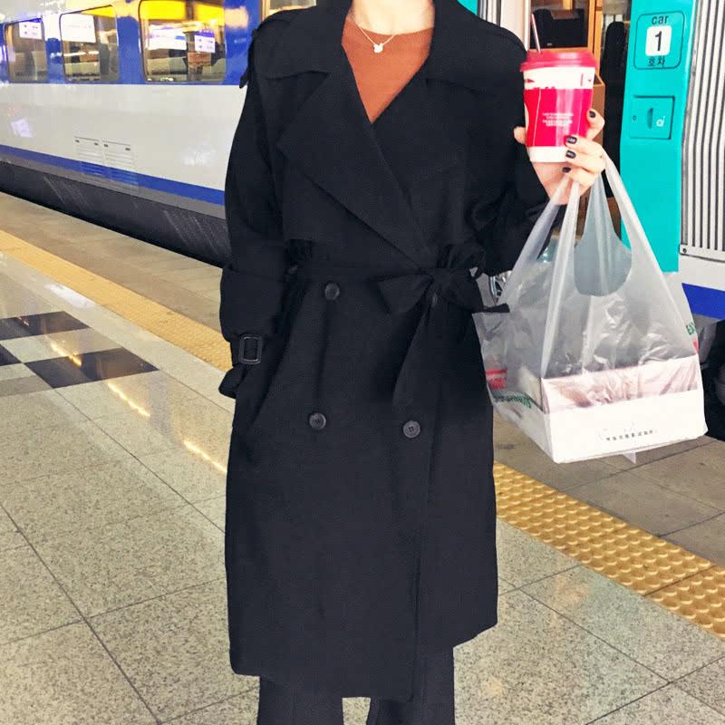 Hotping J. Kuhn, A Trench Coat  Black