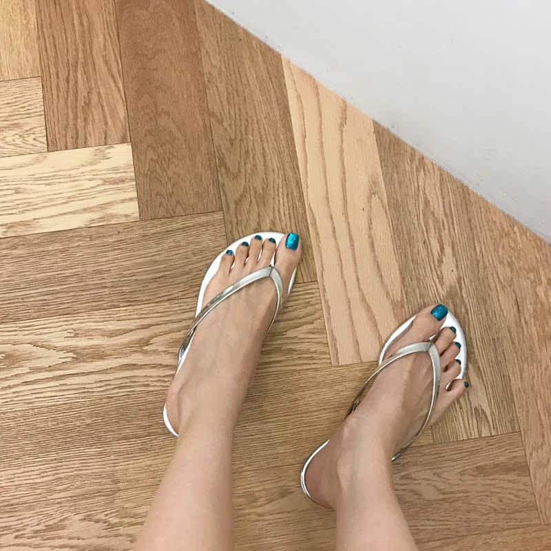 SAPPUN Penny Sue Daley Slippers (1cm) - Silver Enamel