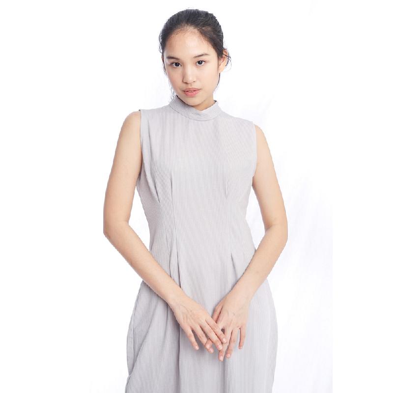 Agatha .Agatha Bodycon Knit Dress Grey