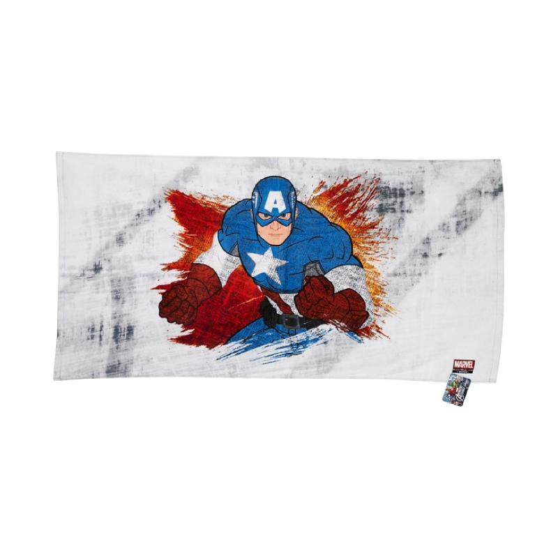 Captain America Bath Towel Grey