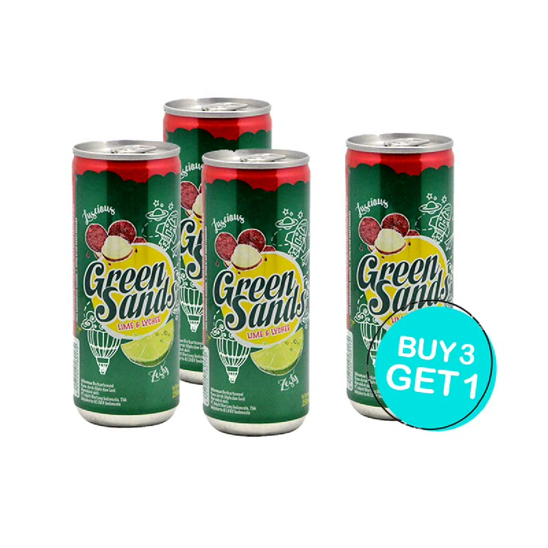 Green Sands Minuman Ringan Rasa Leci & Jeruk 250 Ml (Buy 3 Get 1)