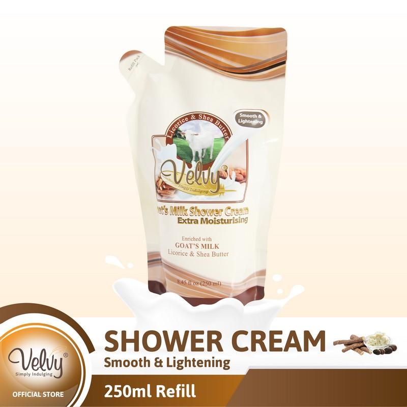 Velvy Gm Shower Cream Licorice & Shea Butter Refill 250Ml