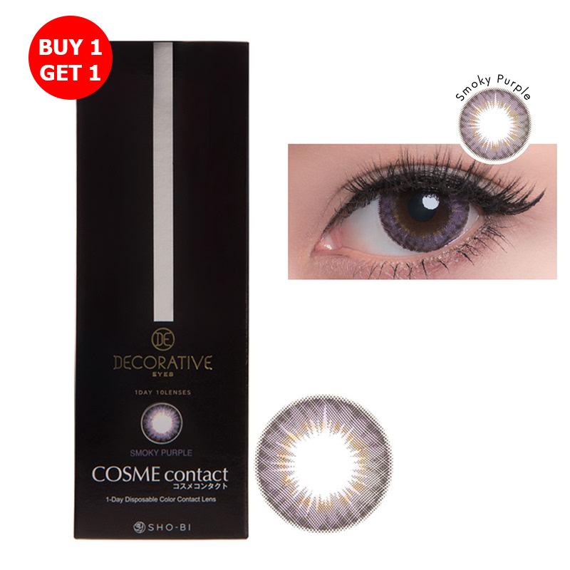 Shobi Smoky Purple (-7.50) 1 Day Disposable Cosme Contact Lens  2pcs