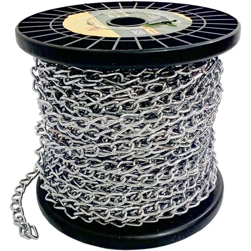 Perkakas Nankai Rantai Besi Galvanis Meteran Gulungan 1.6mm x 30m-Galvanis Metal Chain