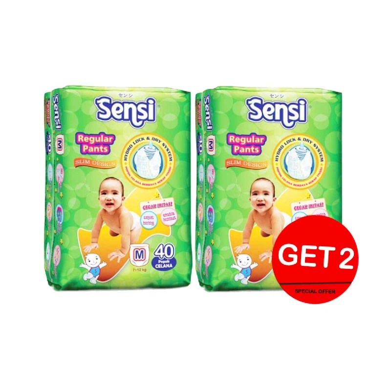 Sensi Dry Diaper Pants Size M 40S (Get 2)