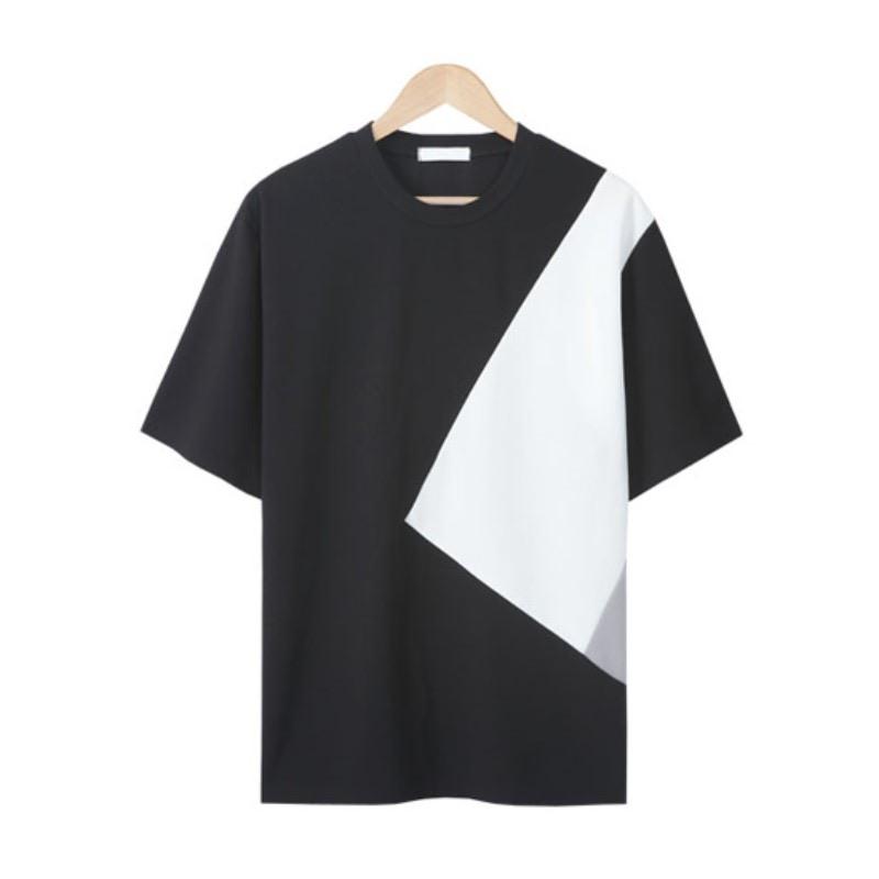 LE_Solid Line Cut T-shirt - Black