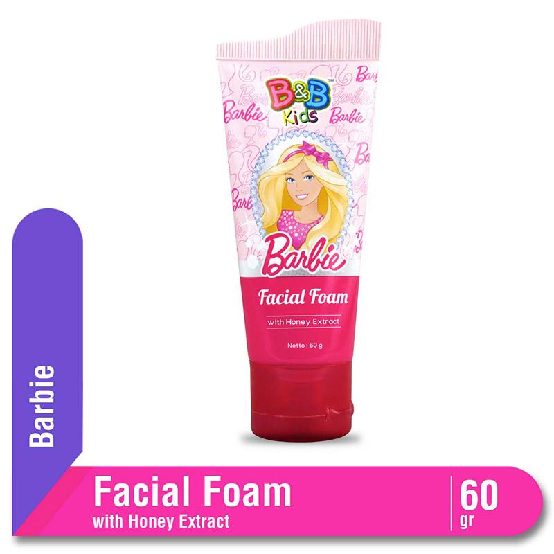 B&B Kids Barbie Facial Foam Honey Extract Tube 60 Gr