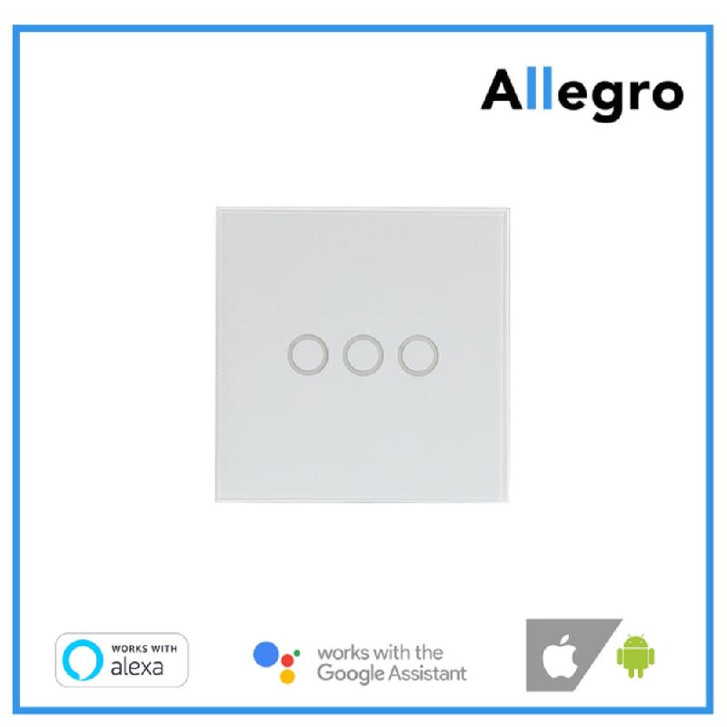 ALLEGRO Smart Home Switch Saklar Wifi EU 3 gang