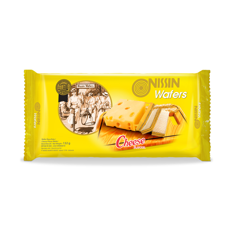 Nissin Wafers Cheese 132 gr