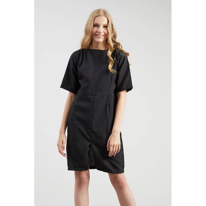 Francine Black Slit Dress