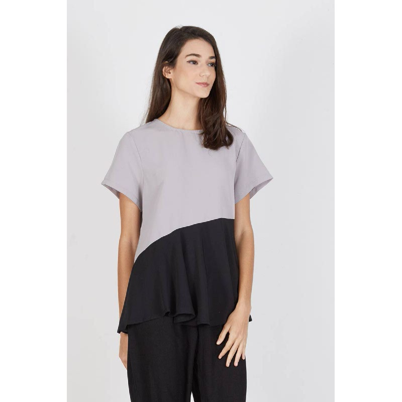 Panela Assymetrical Cut Top Black