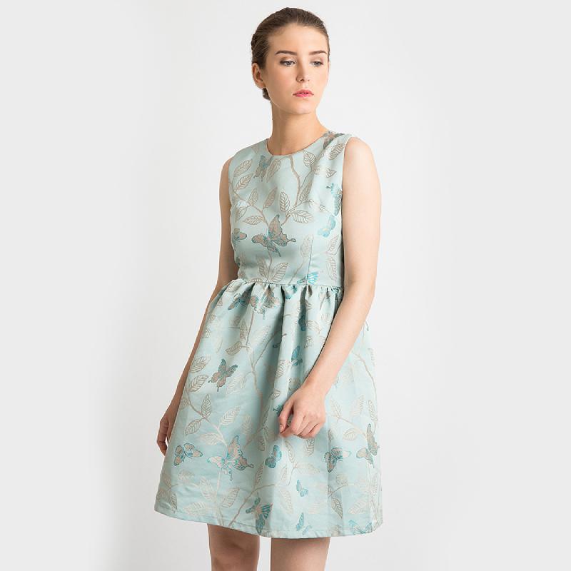 duapola Butterfly Aline Midi Dress