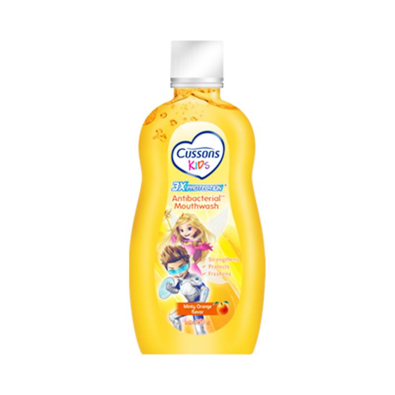 Cussons Kids Antibacterial Mouthwash Orange 250 Ml