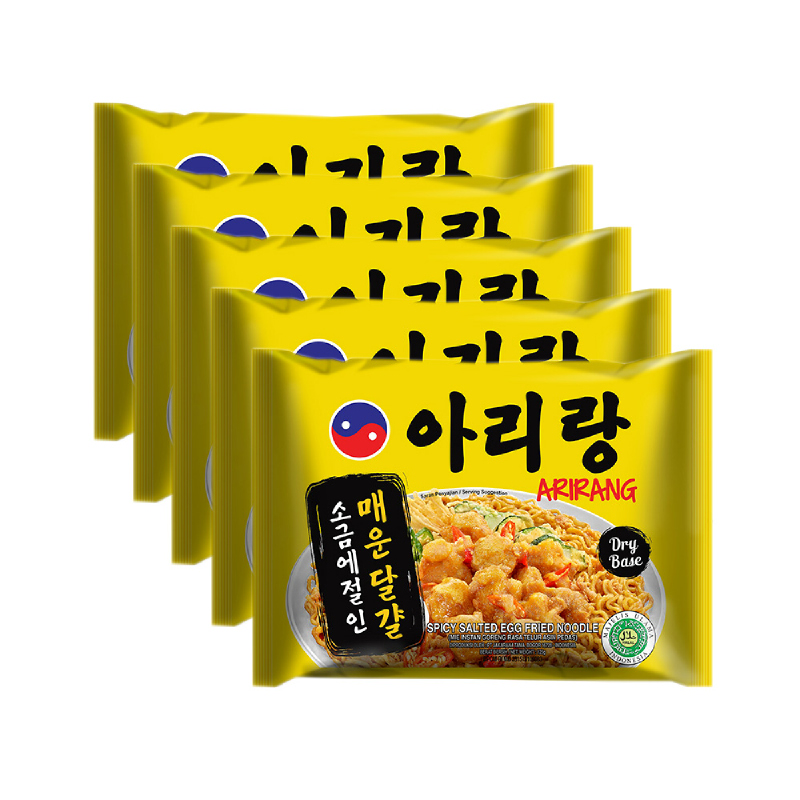 Arirang Spicy Salted Egg Fried Noodle (5 pcs)