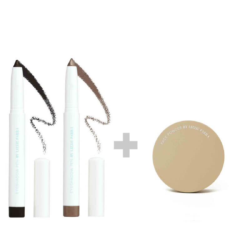 BLP Eyeshadow Charcoal Black+Crème Gold & Face Powder Medium Beige