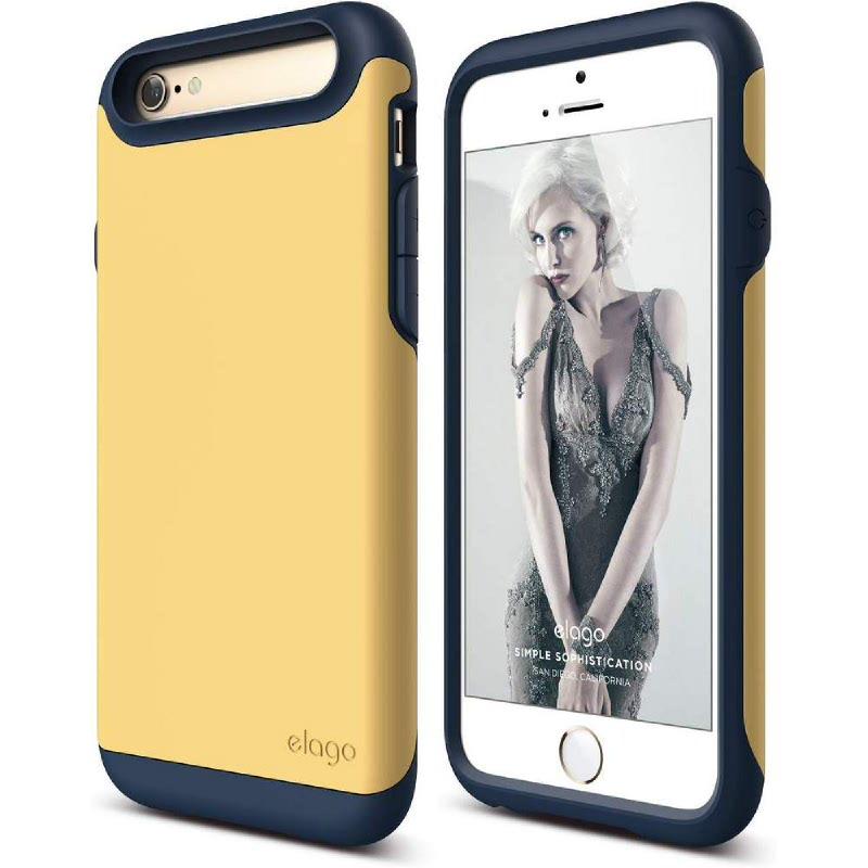 Elago Duro Jean Indigo Case for iPhone 6, 6S - Jean Indigo + SG Creamy Yellow