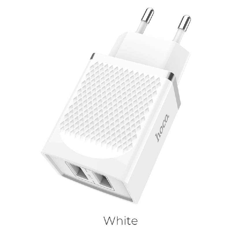 HOCO Dual Port Charger C43A White