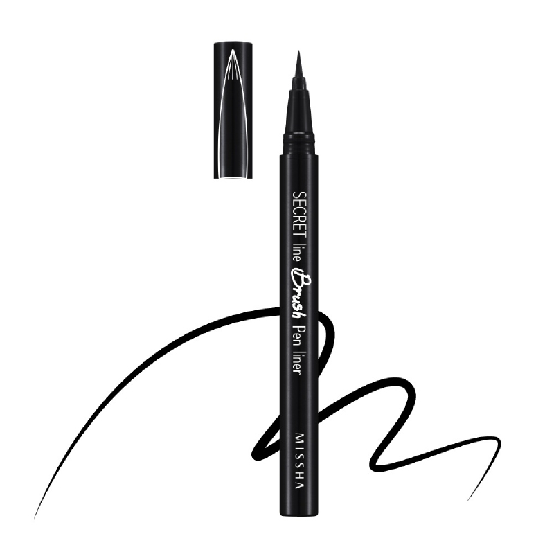 Missha Secret Line Brush Pen Liner Black