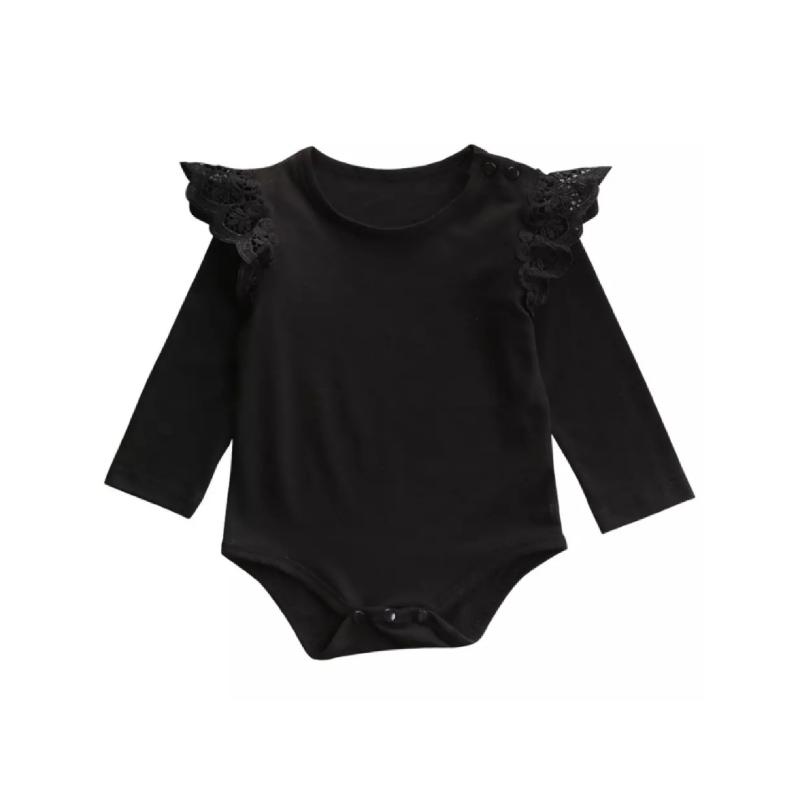 BabyLand Black Angel Romper BAR001