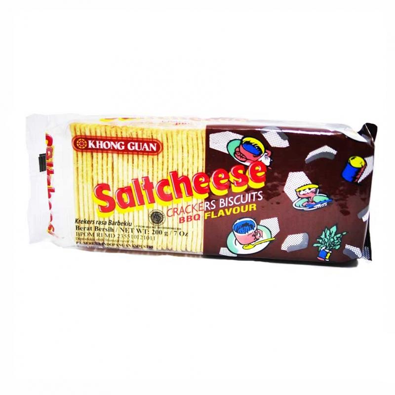 Khong Guan Saltcheese Crackers BBQ 200g
