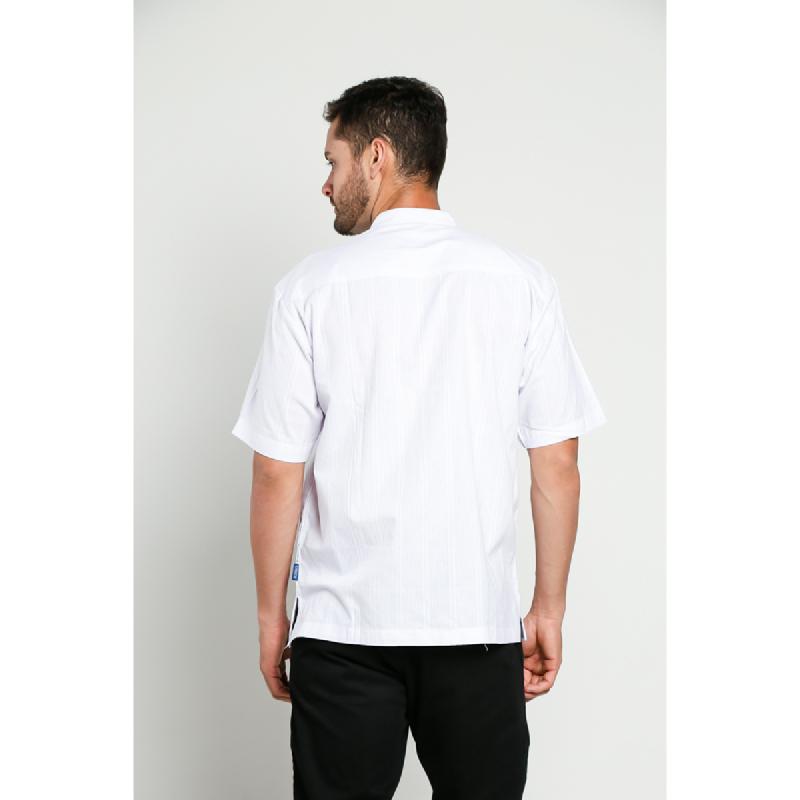 Aitana Baju Koko Pria Bordir YN-11721-SS Putih