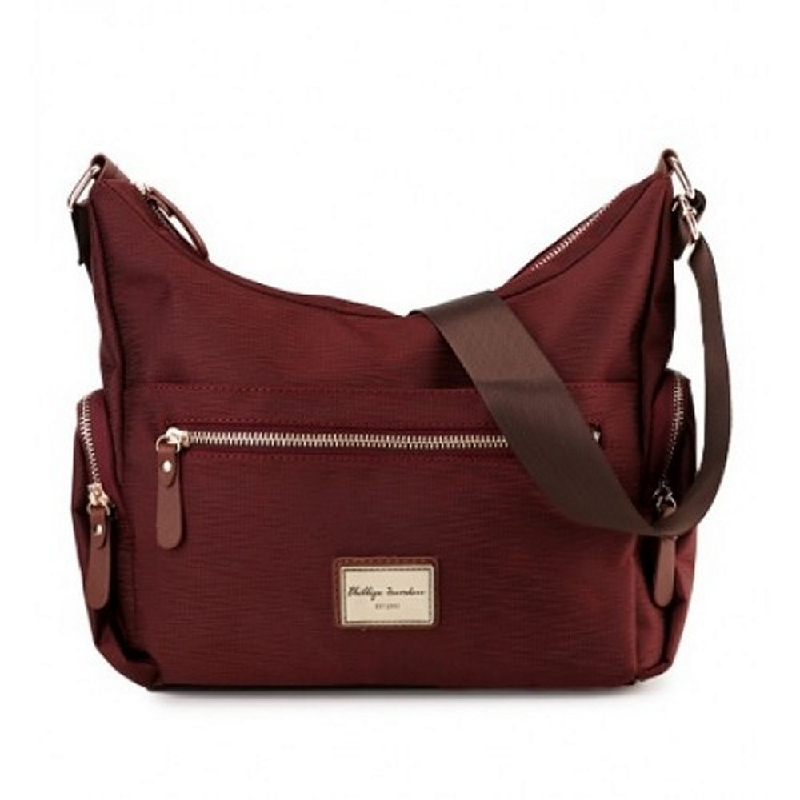 Phillipe Jourdan Aurora Messenger Bag Maroon