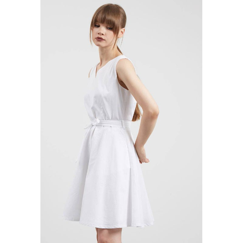Sydne Bow Dress White