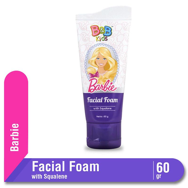 B&B Kids Barbie Facial Foam Squalane Tube 60 Gr