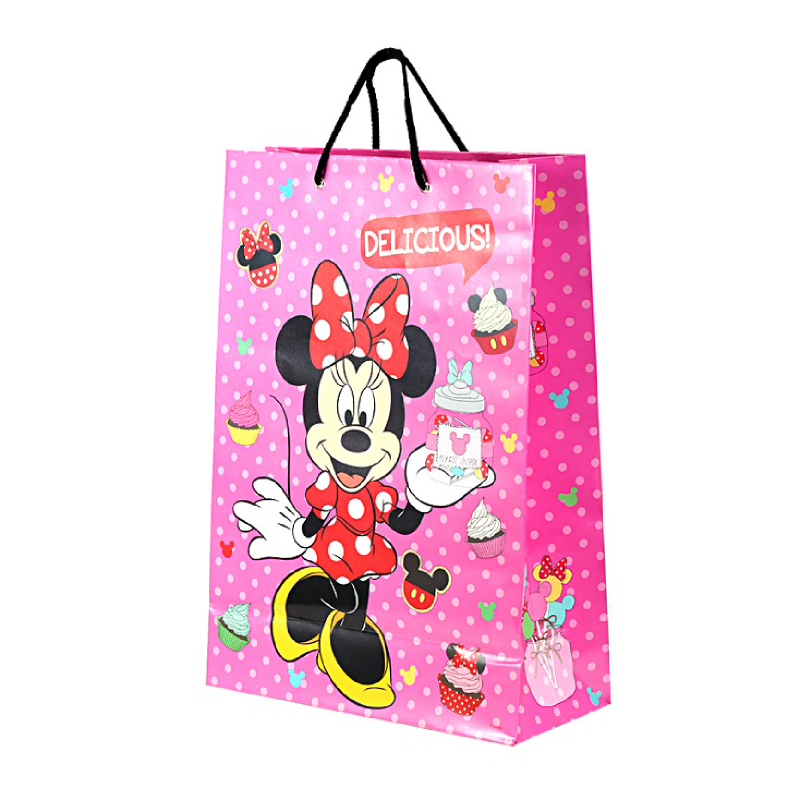 Minnie Mouse Sweet Treats Pink Polka Large Paper Bag