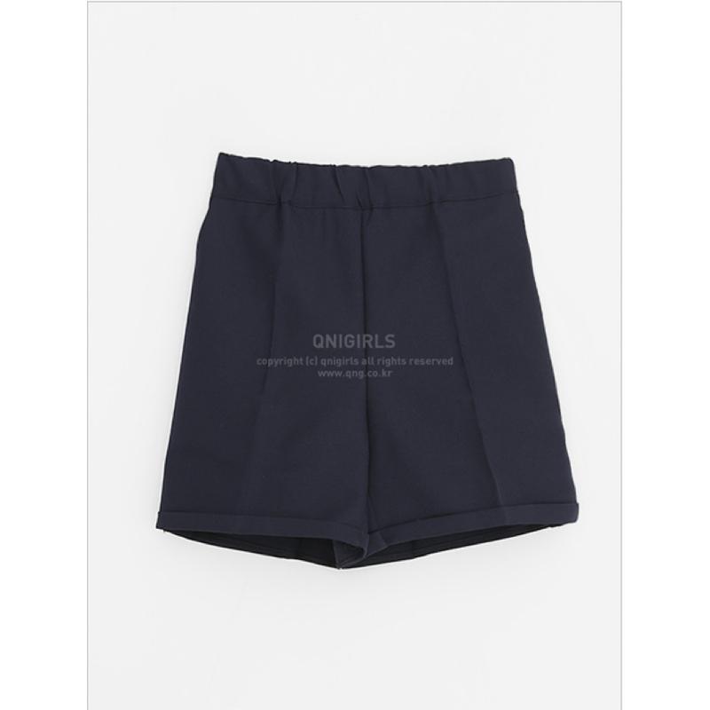 Qnigirls Bending Short Slacks - Navy