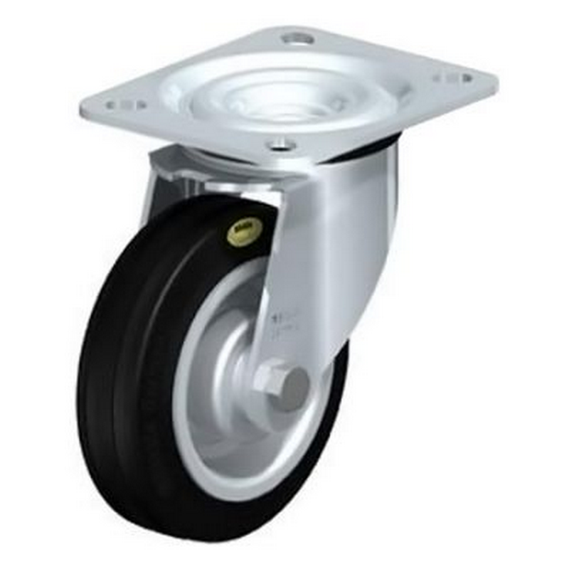 L-RD 100R Two-Component Solid Rubber Tyre Swivel Castors L-RD 182R