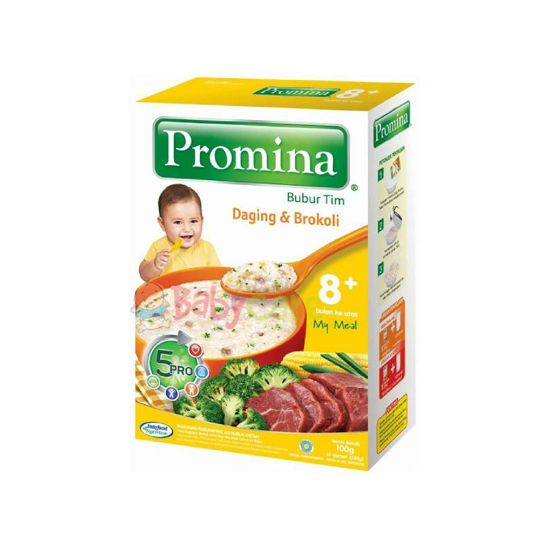 Promina Bubur Tim Rasa Daging & Brokoli 100 Gr