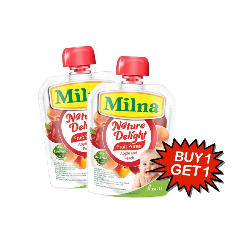 Milna Nature Delight Apple & Peach 80 Gr (Buy 1 Get 1)