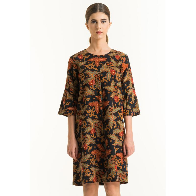 Bateeq Women Long Sleeve Cotton Print Dress FL012A-SS18 Black