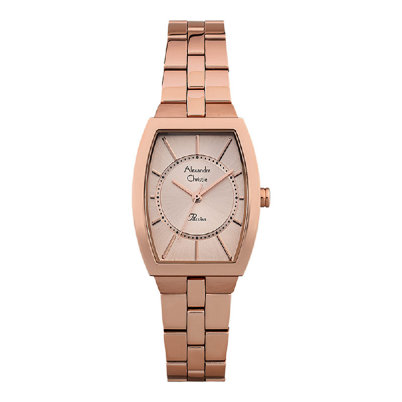 Alexandre Christie Passion AC 2895 LHBRGLN Ladies Rose Gold Dial Rose Gold Stainless Steel Strap