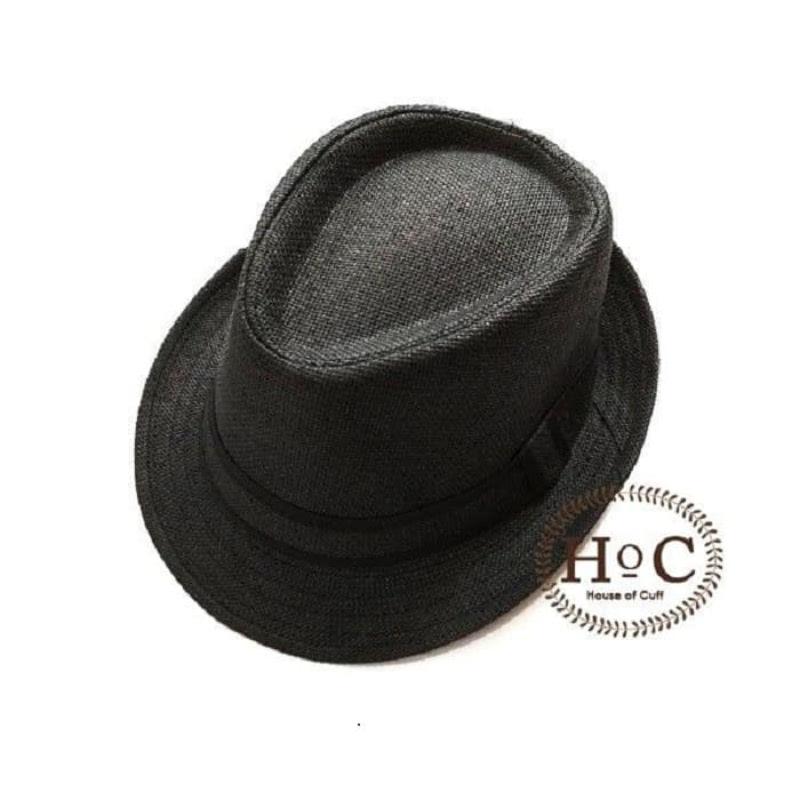 House Of Cuff Topi Fedora Hat Black Fedora Hat Paper