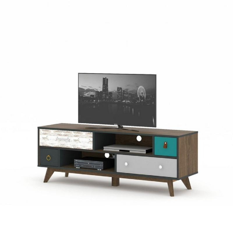 Anya Living Geneva Tv Stand - Meja Tv 140-Brown Oak