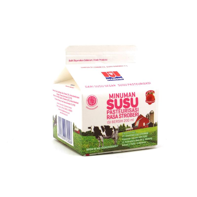 Diamond Fresh Milk Strawberry 200Ml