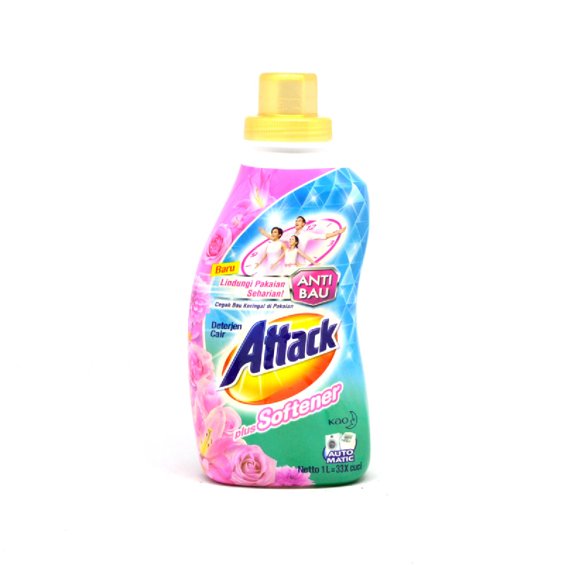 Attack Detergen Cair Plus Pelembut Botol 1 L
