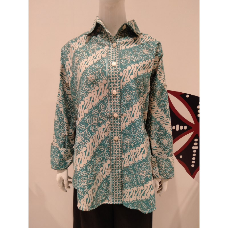Astari Batik Shirt Tosca