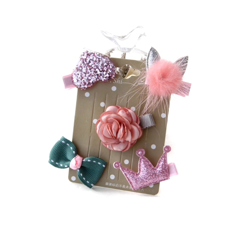 BabyLand Pinky Crown Hairpin PCH001
