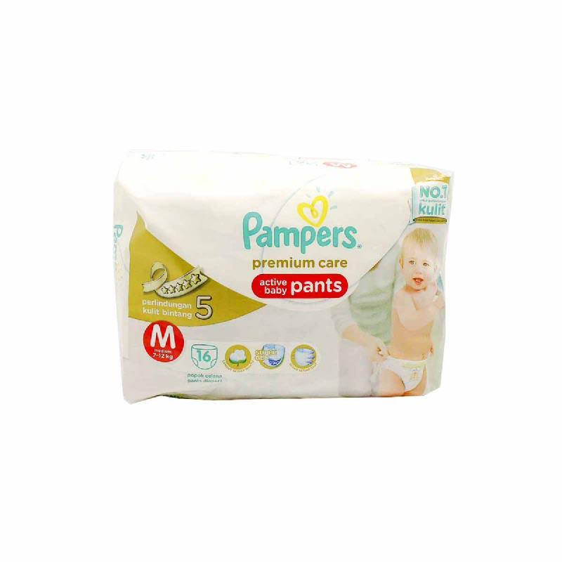 Pampers Premium Active Baby Diaper Pants Economy M 16S