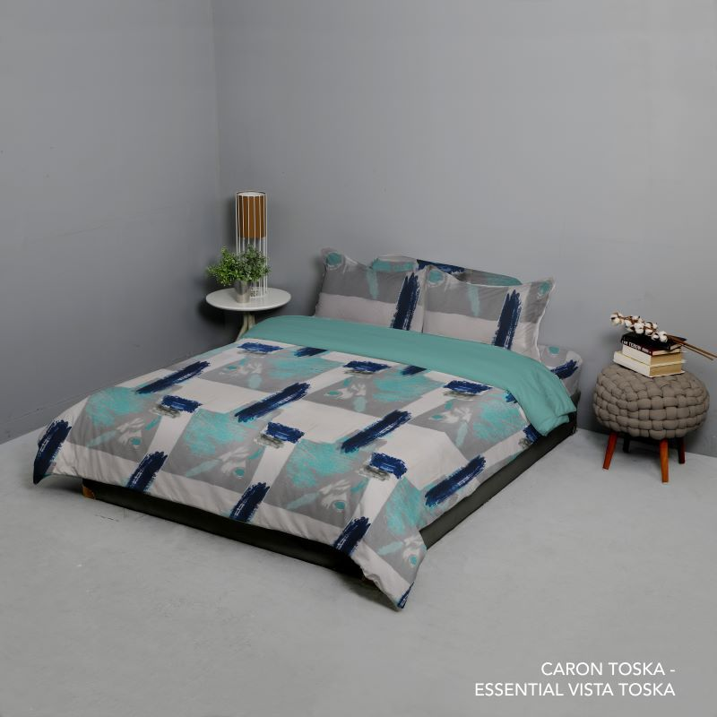 King Rabbit Set Seprei King Size 180x200x40 cm Motif Karon - Toska