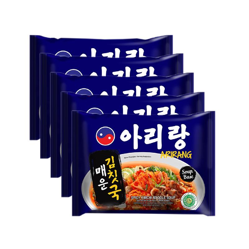 Arirang Spicy Kimchi Noodle Soup (5 pcs)