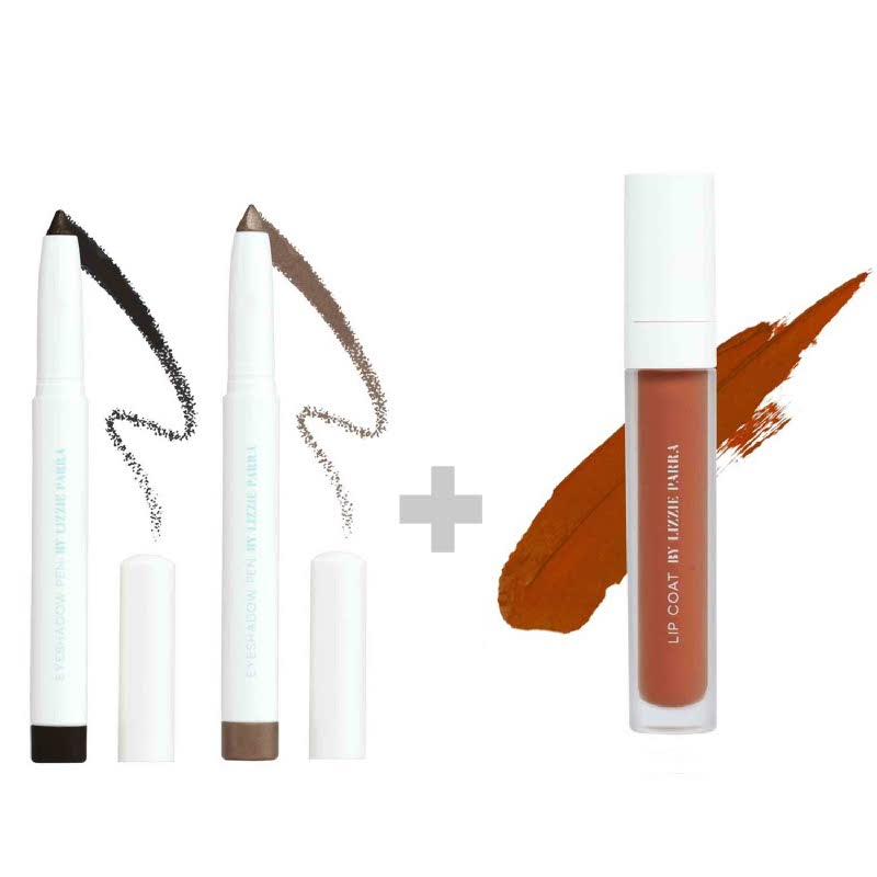 BLP Eyeshadow Charcoal Black+Crème Gold & Lipcoat Pumpkin Sorbet